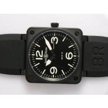 Bell & Ross BR 01-92 Swiss ETA 2892 Movement PVD Casing with Rubber Strap 46x46mm