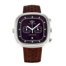 Tag Heuer Silverstone Working Chronograph with Brown Dial Brown Leather Strap