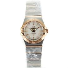 Omega Constellation Two Tone Stick Markers with MOP Dial Same Chassis as ETA Version-Lady Size