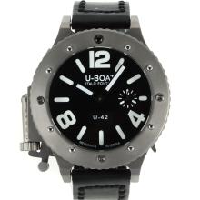 U-Boat Italo Fontana U-42 Manual Winding Titanium Case with Black Dial White Markers