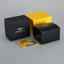 Breitling High Quality Black Wooden Box Set with Instruction Manual
