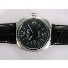 Panerai Radiomir 8 Days Swiss ETA Unitas 6497 Movement Manual Winding with Black Dial