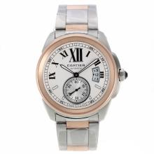 Cartier Calibre de Cartier Automatic Two Tone with White Dial