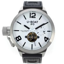 U-Boat Italo Fontana Tourbillon Automatic with White Dial Leather Strap-1