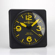 Bell & Ross BR01-92 Wall Clock with Yellow Markers