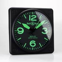 Bell & Ross BR01-92 Wall Clock with Green Markers