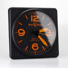 Bell & Ross BR01-92 Wall Clock with Orange Markers