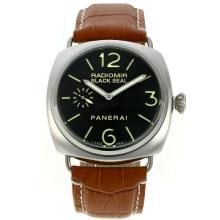 Panerai Radiomir Black Seal Automatic with Black Dial Leather Strap-1