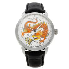 Ulysse Nardin Classico Enamel Champleve Dragon Automatic with White Dial 18K Plated Gold Movement