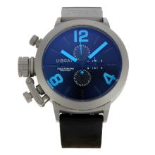 U-Boat Italo Fontana Working Chronograph Titanium Case with Black Dial Blue Markers