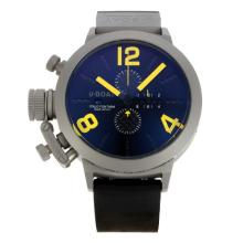 U-Boat Italo Fontana Working Chronograph Titanium Case with Black Dial Yellow Markers