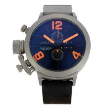 U-Boat Italo Fontana Working Chronograph Titanium Case with Black Dial Orange Markers