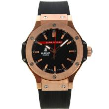 Hublot Big Bang Luna Rossa Rose Gold Case with Black Carbon Fibre Style Dial Rubber Strap