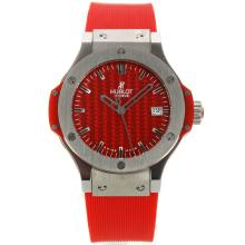 Hublot Big Bang with Red Carbon Fibre Style Dial Rubber Strap