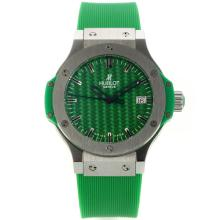 Hublot Big Bang with Green Carbon Fibre Style Dial Rubber Strap