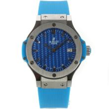 Hublot Big Bang with Blue Carbon Fibre Style Dial Rubber Strap