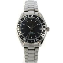Omega Seamaster Black Bezel with Black Dial S/S-Lady Size