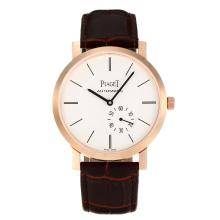Piaget Altiplano Automantic Rose Gold Case with White Dial Leather Strap