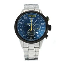 Tag Heuer Mikrotimer 1000 Working Chronograph PVD Case with Black Dial