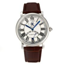 Cartier Rotonde de Cartier with White Dial Leather Strap-1
