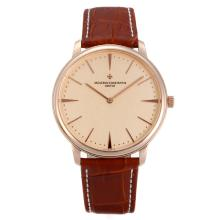 Vacheron Constantin Classic Rose Gold Case with Champagne Dial Sapphire Glass