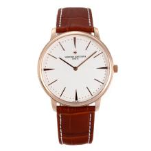 Vacheron Constantin Classic Rose Gold Case with White Dial Sapphire Glass