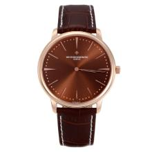 Vacheron Constantin Classic Rose Gold Case with Coffee Dial Sapphire Glass