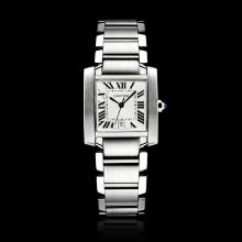 Cartier Tank Swiss ETA Movement with White Dial S/S(Gift Box is Included)