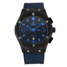 Hublot Big Bang Automatic PVD Case with Black Dial Dark Blue Leather Strap
