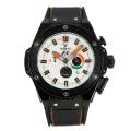 Hublot King Power Working Chronograph Full PVD with White Dial Rubber Strap-Limited Edition