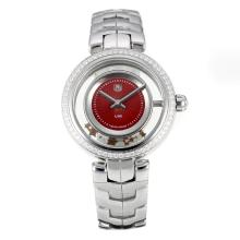 Tag Heuer Link with Red Dial S/S