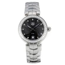 Tag Heuer Link Diamond Bezel with Black Dial S/S-4