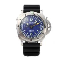 Panerai Luminor Submersible Working GMT Automatic with Blue Dial-Rubber Strap