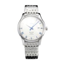 Omega De Ville Swiss ETA 2836 Movement with White Dial S/S-Sapphire Glass