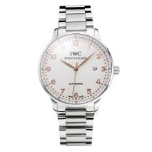 IWC Portofino Automatic with White Dial Rose Gold Marker S/S