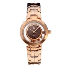Tag Heuer Link Full Rose Gold with Coffee Dial