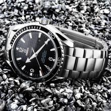 Omega Seamaster Planet Oceam 007 Automatic with Black Dial S/S(Gift Box is Included)