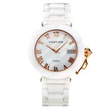 Cartier Classic Full Ceramic with White Dial