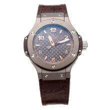 Hublot Big Bang Titanium Case with Coffee Dial Leather Strap