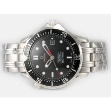 Omega Seamaster 007 James Bond Automatic Black Bezel With Black Dial S/S