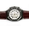 Audemars Piguet Arnold Limited Edition Royal Oak Chronograph Asia Valjoux 7750 Movement PVD Case with White Dial