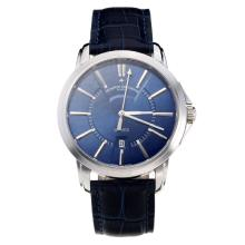 Vacheron Constantin with Blue Dial Leather Strap