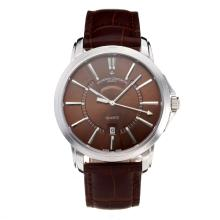 Vacheron Constantin with Coffee Dial Leather Strap