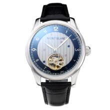 Montblanc Tourbillon Automatic with Black Dial Leather Strap