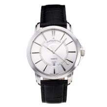 Vacheron Constantin with White Dial Leather Strap