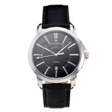 Vacheron Constantin with Black Dial Leather Strap