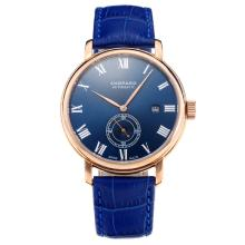 Chopard Classic Automatic Rose Gold Case with Blue Dial Leather Strap