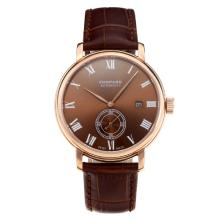 Chopard Classic Automatic Rose Gold Case with Brown Dial Leather Strap