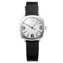 Vacheron Constantin Historiques with White Dial-Black Leather Strap
