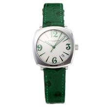 Vacheron Constantin Historiques with White Dial-Green Leather Strap